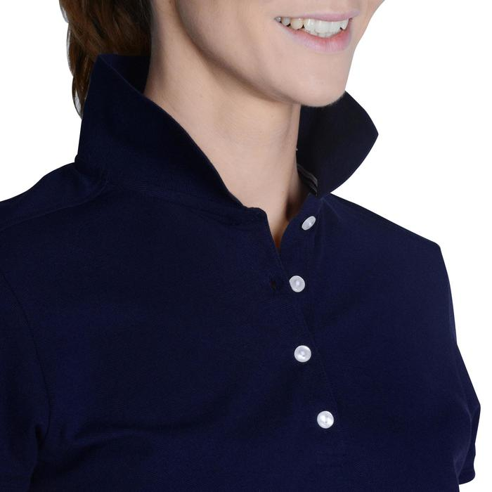 Golf Poloshirt 500 Kurzarm Damen marineblau