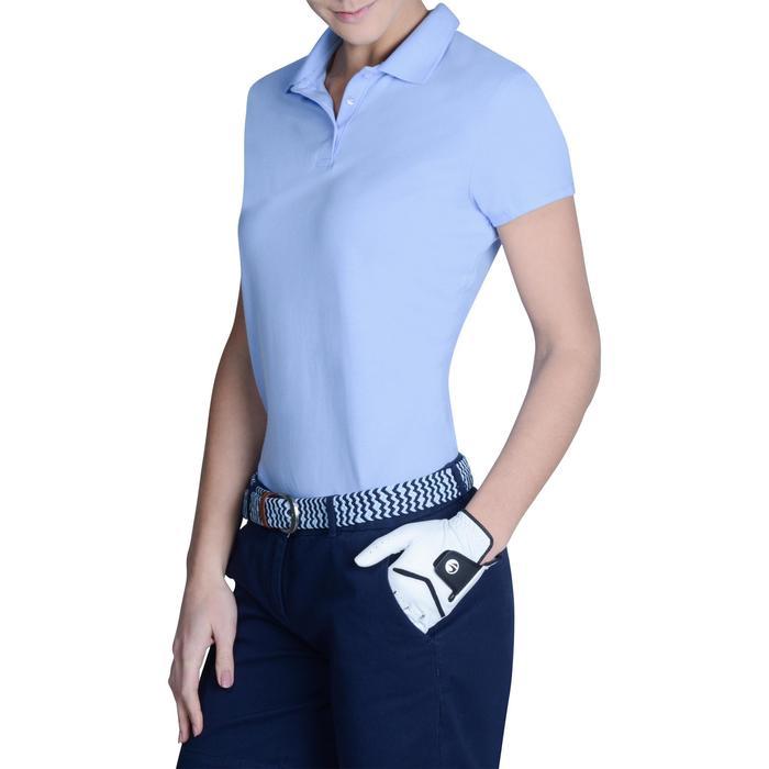 Golf Poloshirt 100 Kurzarm Damen himmelblau