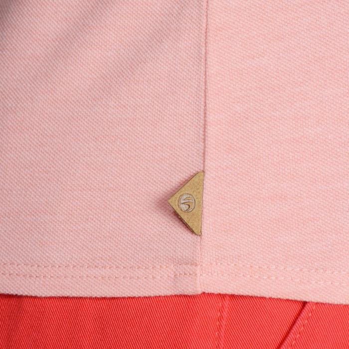 Golfpolo 500 met korte mouwen voor dames, zacht weer, gemêleerd perzikroze