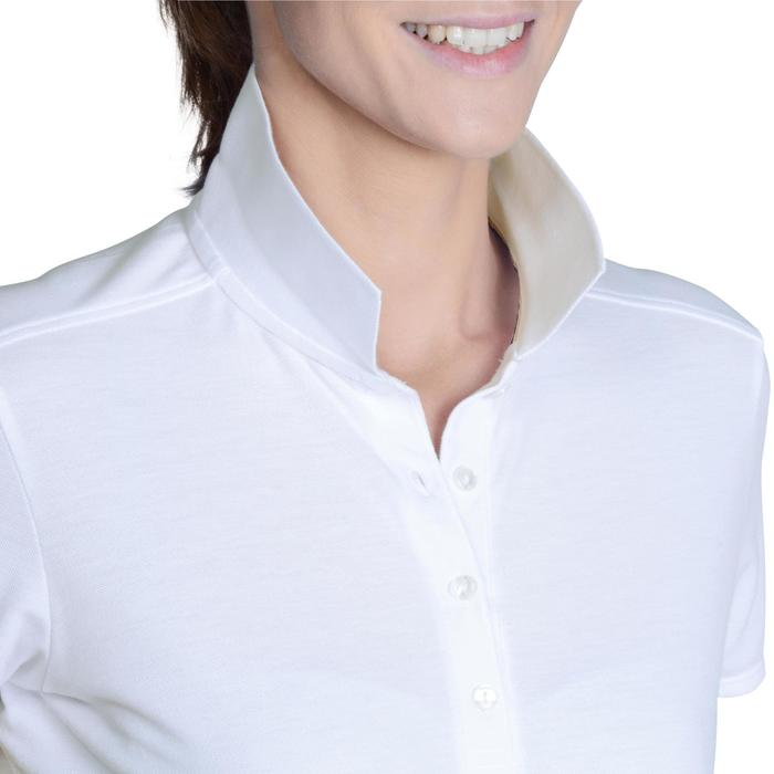 Golf Poloshirt 500 Kurzarm Damen weiß
