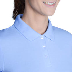 100 Women's Golf Short-Sleeved Temperate Weather Polo Shirt - Sky Blue