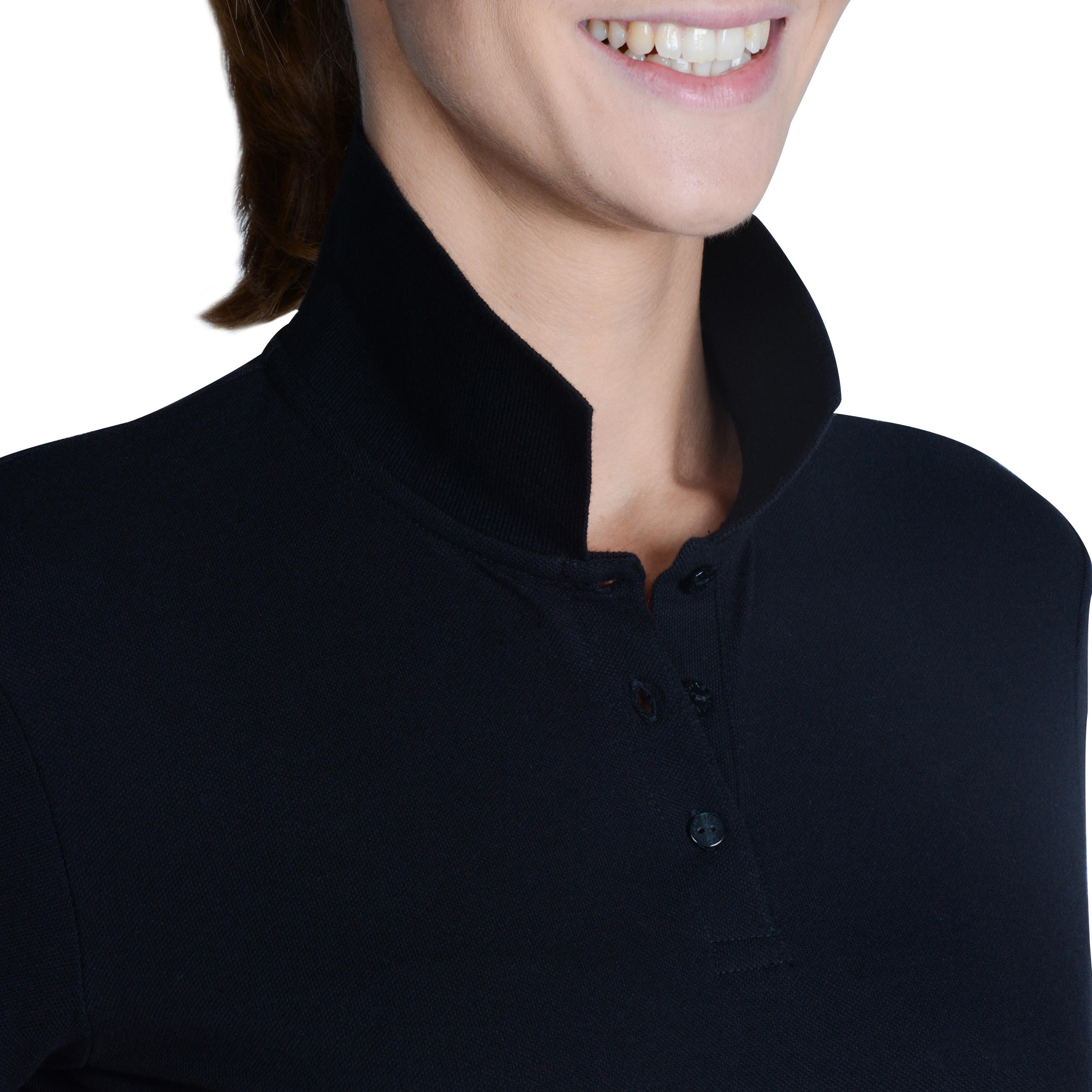 100 Women's Golf Short Sleeve Temperate Weather Polo Shirt - Black