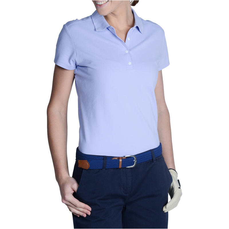 Women's Golf Polo 500 - Indigo Pastel