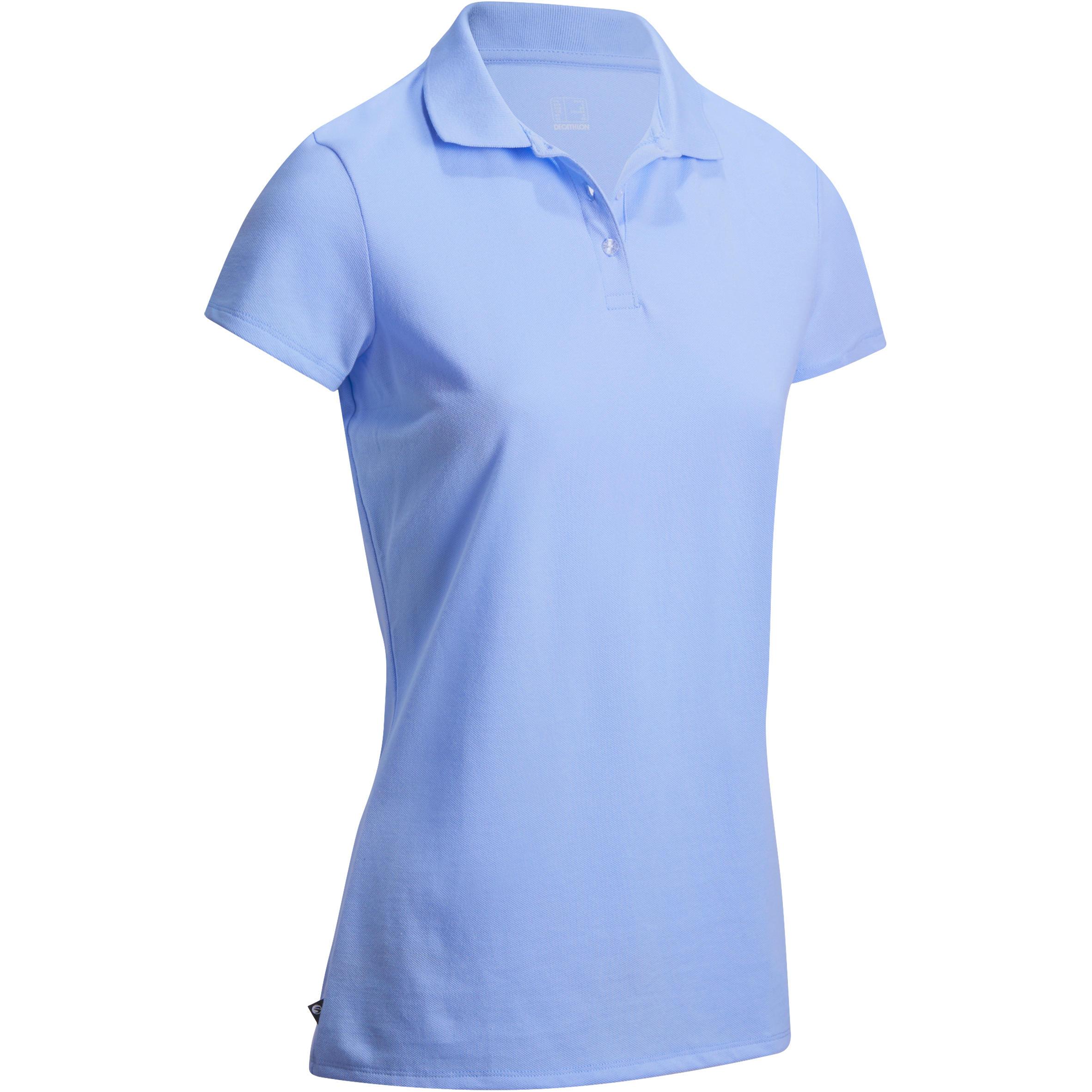 Women's Golf Polo T-Shirt 100 - Sky Blue