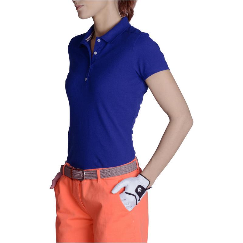 Women Golf Polo 500 - Jazz Blue