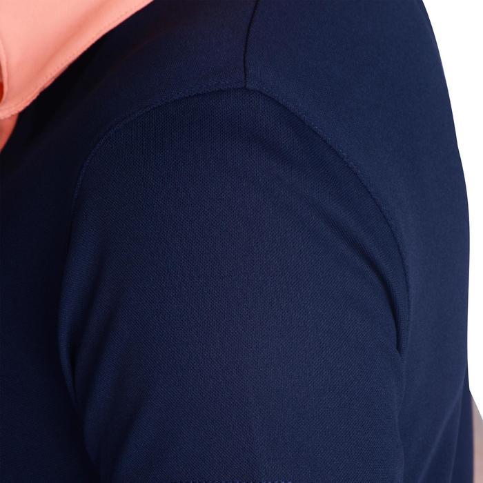 Golfpolo 900 voor dames blauw/marineblauw