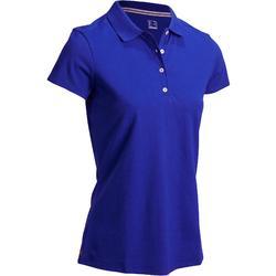 Polo de golf femme manches courtes 500 temps tempéré
