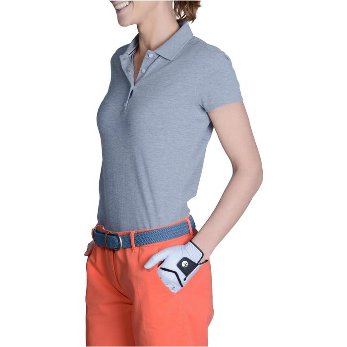 500 Women's Golf Short Sleeve Temperate Weather Polo Shirt - Heather Grey