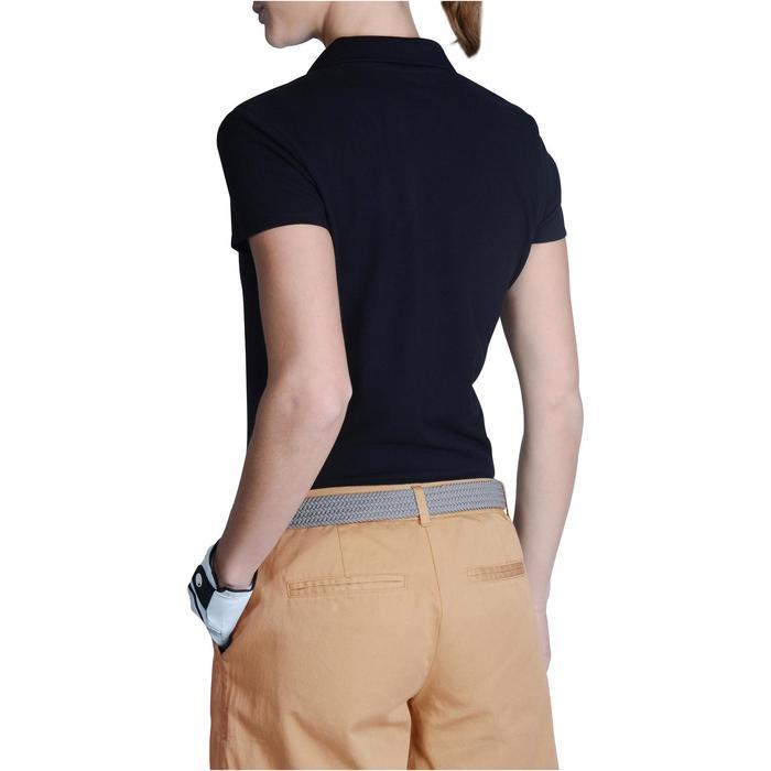 Golf Poloshirt 100 Kurzarm Damen mildwarm schwarz