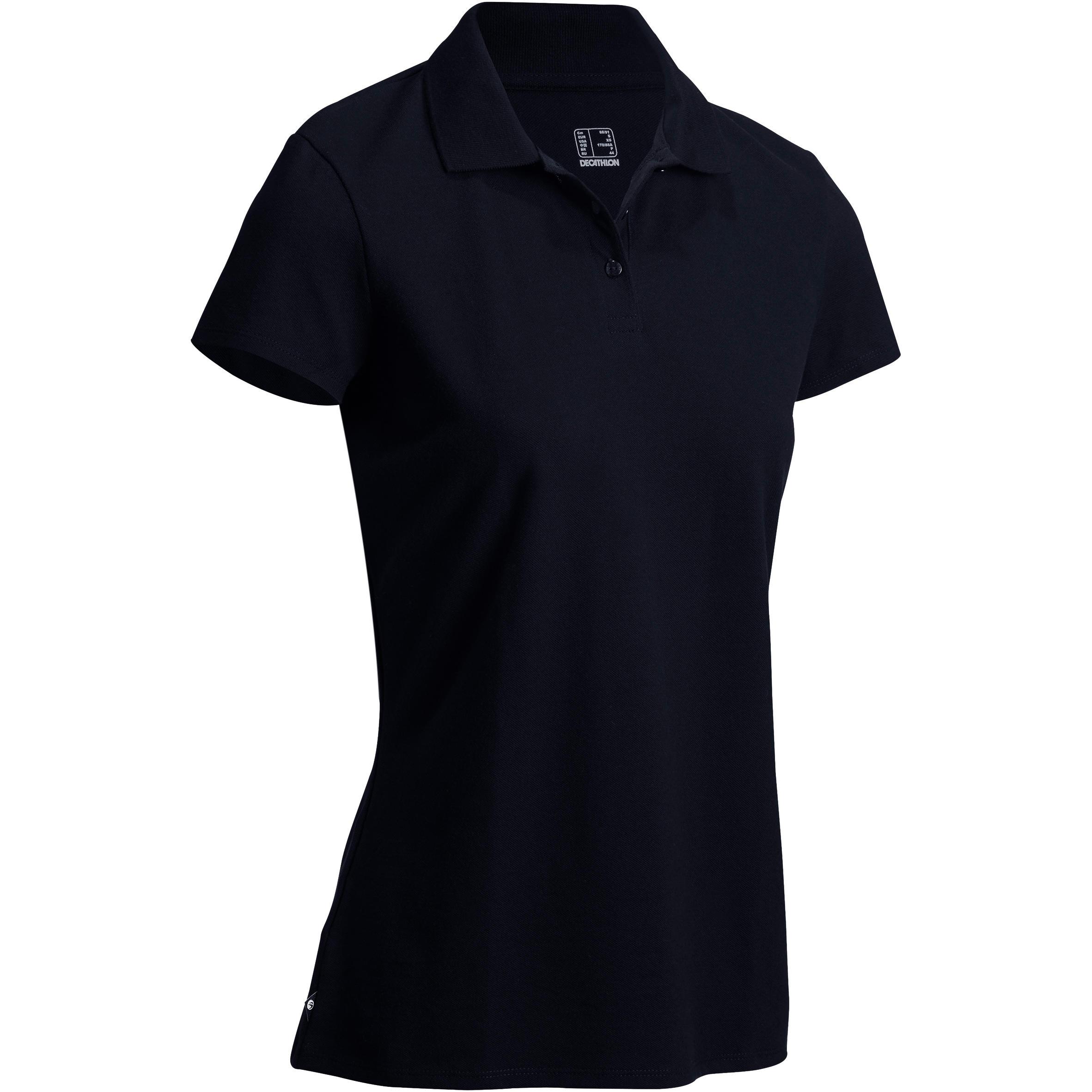 Golf Wanita Polo 100 - Hitam
