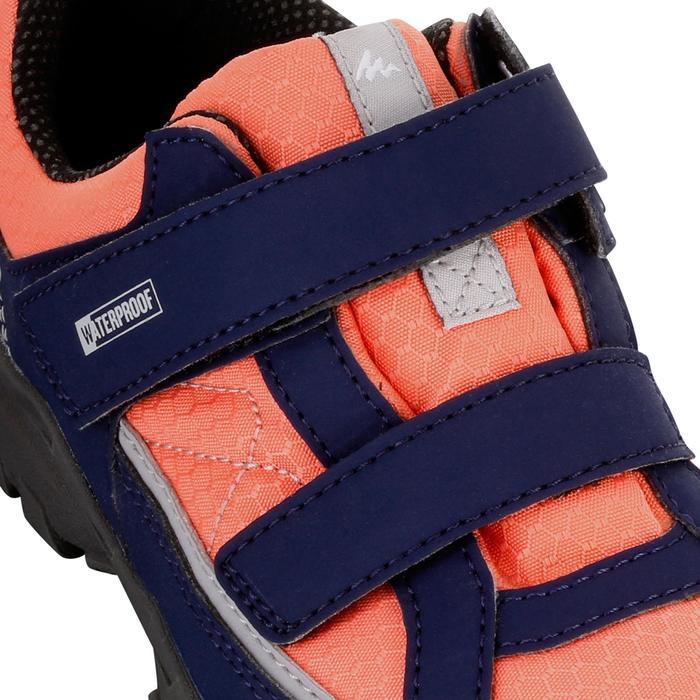 Chaussures de randonnée enfant NH100 imperméables Bleu Corail - 1125057