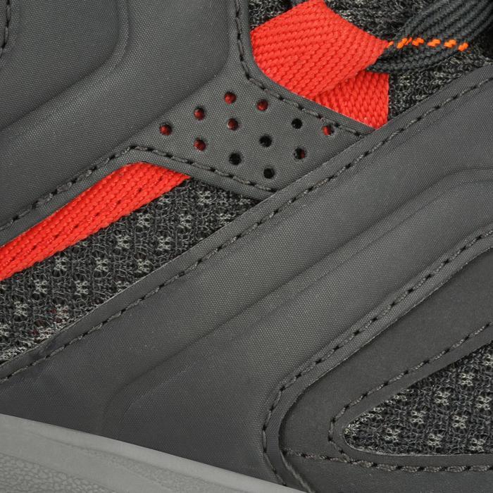 Chaussures de randonnée montagne homme Forclaz 100 Noir / Rouge