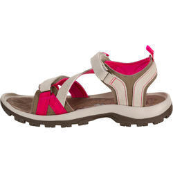NH120 Women's Nature Walking Leather Sandals - Beige