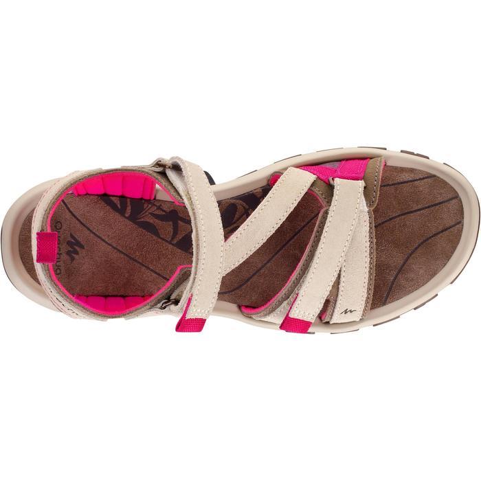 Sandalias de senderismo naturaleza NH120 piel beige mujer