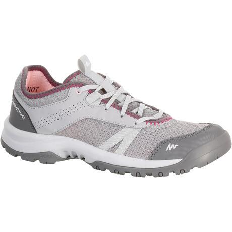 8a8625c22e457 Chaussure de randonnée nature NH100 Fresh gris femme   Quechua