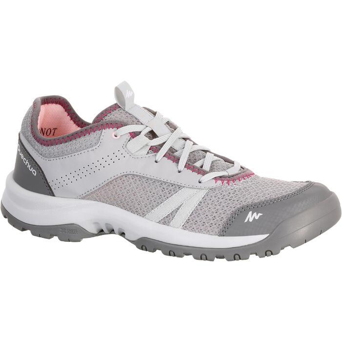 Zapatillas de senderismo naturaleza NH100 Fresh gris mujer
