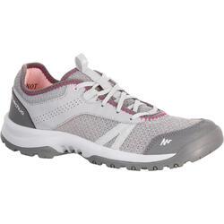 Arpenaz 100 Fresh 女性健行運動靴 - 灰色/粉紅