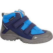 Modri srednje visoki vodoodporni pohodniški čevlji NH500 za otroke