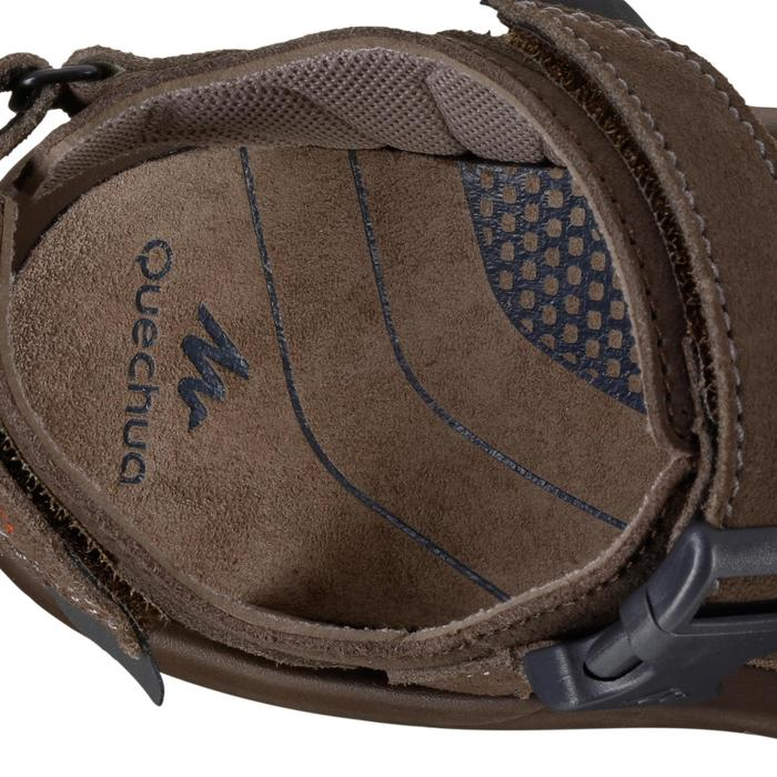 LEATHER HIKING SANDALS - NH120 - BROWN - MEN