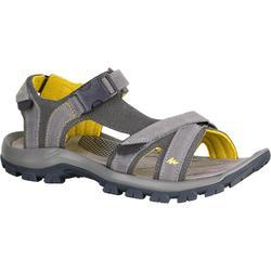 男士健行運動涼鞋 ARPENAZ 120 灰色