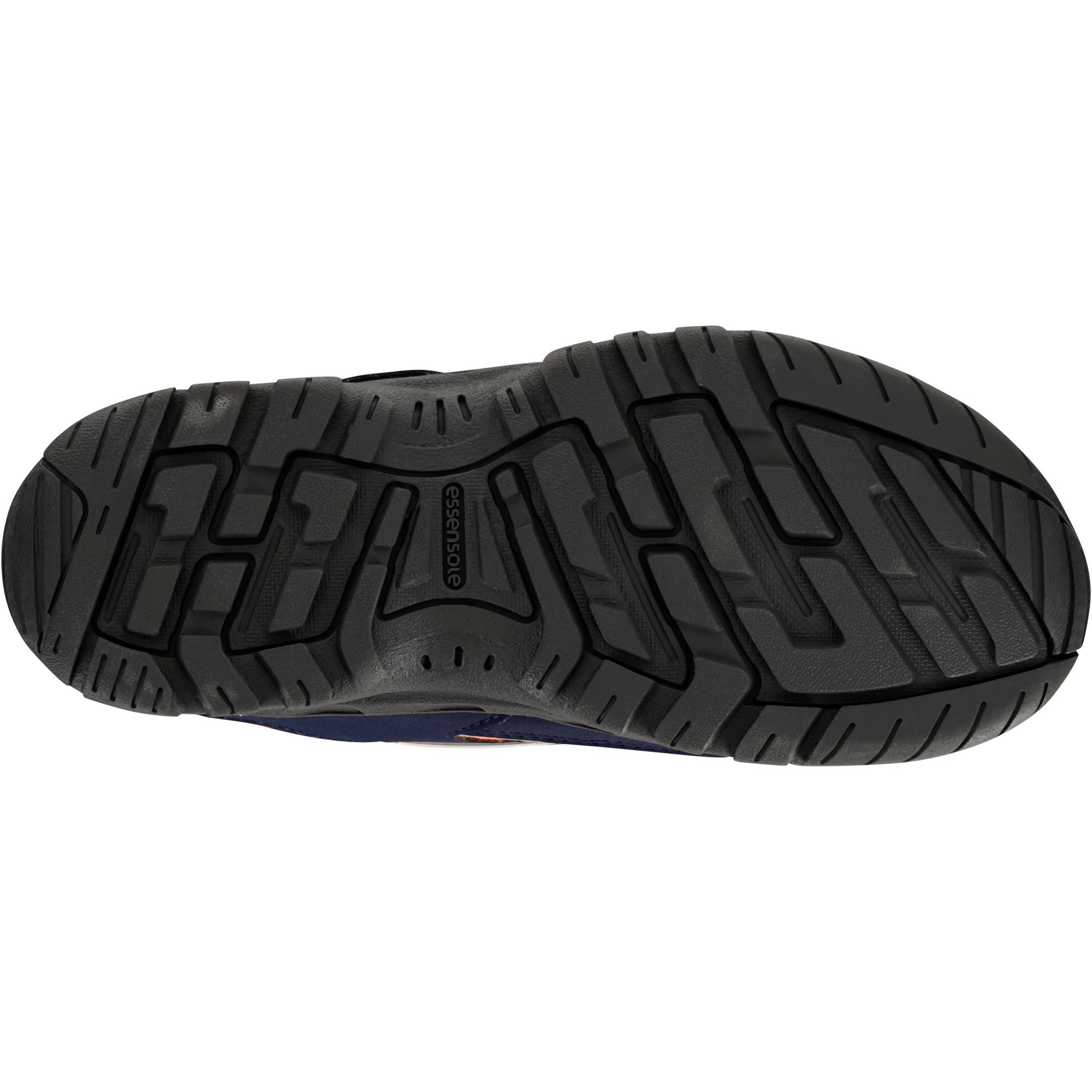 Kids Waterproof Hiking Shoes NH100 - Blue/Coral