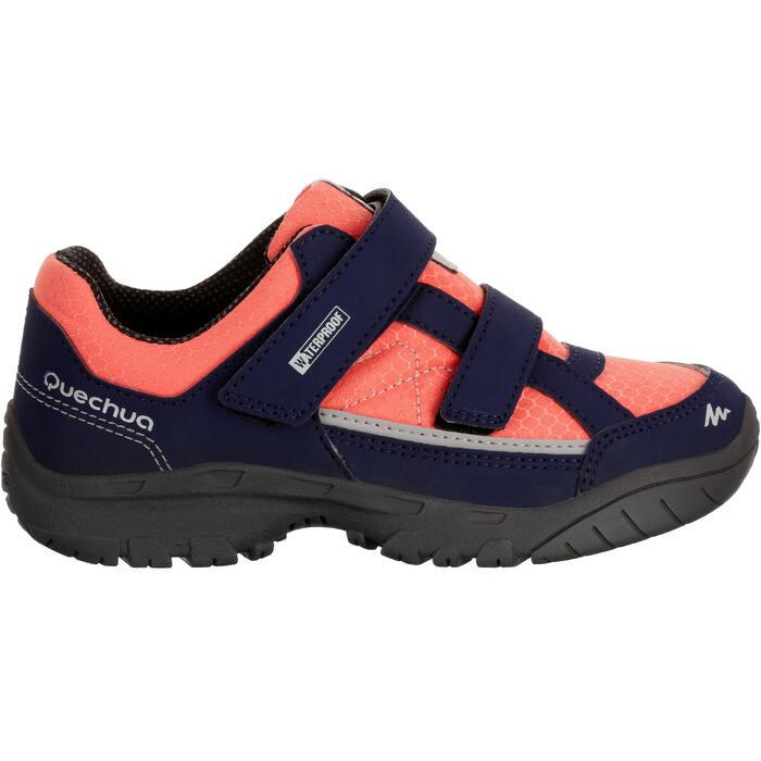 Chaussures de randonnée enfant NH100 imperméables Bleu Corail - 1125210