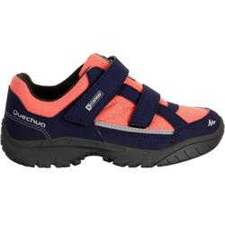 Waterdichte wandelschoenen voor kinderen NH100 blauw/koraalrood