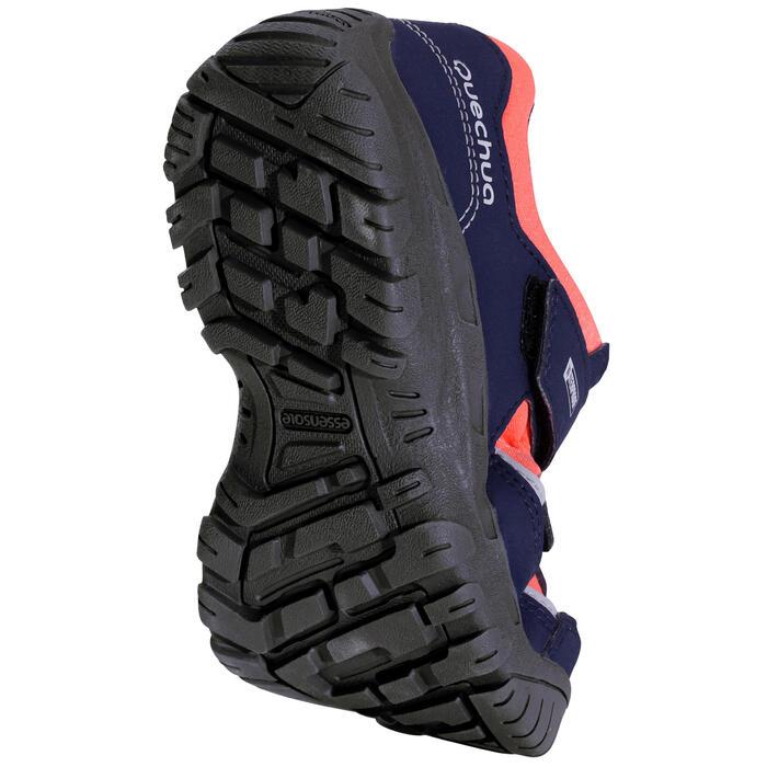 Chaussures de randonnée enfant NH100 imperméables Bleu Corail - 1125278