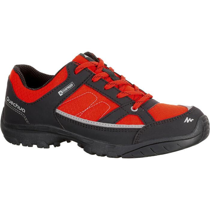 Chaussures de randonnée enfant NH100 imperméables Bleu Corail - 1125288