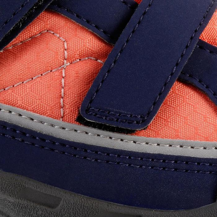Chaussures de randonnée enfant NH100 imperméables Bleu Corail - 1125301