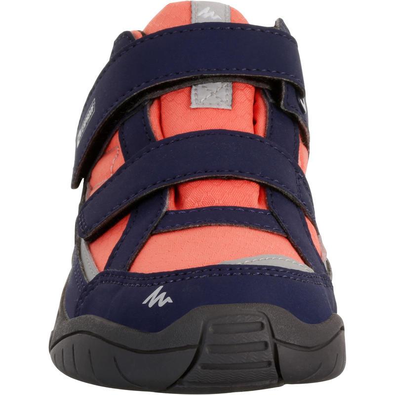 Kid's Hiking Shoes NH100 (Waterproof) - Blue/Coral
