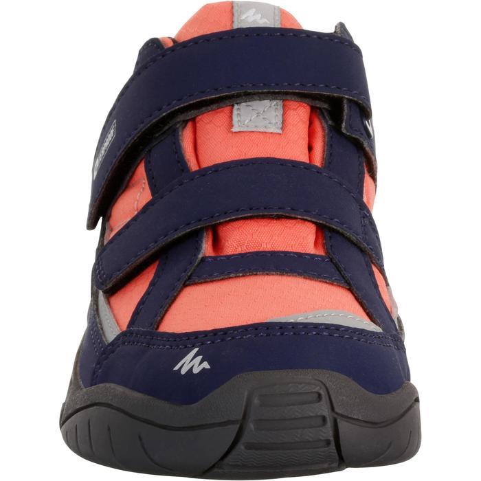Chaussures de randonnée enfant NH100 imperméables Bleu Corail - 1125303