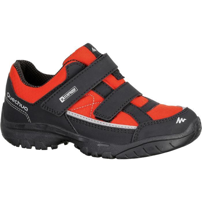 Chaussures de randonnée enfant NH100 imperméables Bleu Corail - 1125341