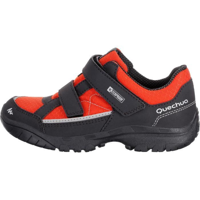 Chaussures de randonnée enfant NH100 imperméables Bleu Corail - 1125347