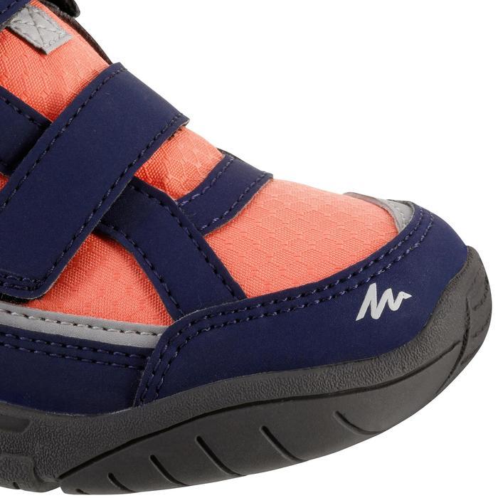 Chaussures de randonnée enfant NH100 imperméables Bleu Corail - 1125357