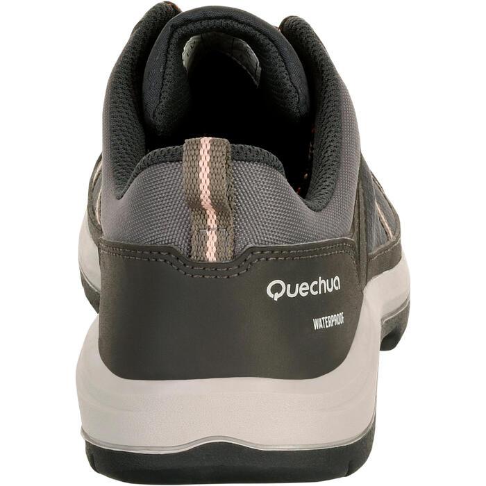 Chaussure de randonnée nature NH300 imperméable noire femme - 1125379