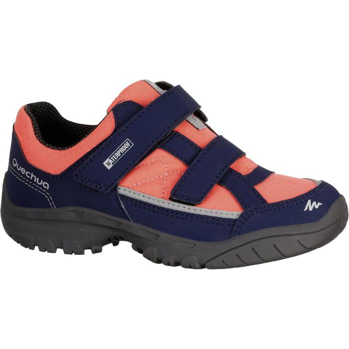 Chaussures de randonnée enfant NH100 imperméables Bleu Corail - 1125381