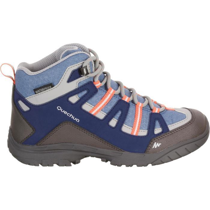 Chaussures de randonnée enfant NH500 Mid imperméables JR corail - 1125400