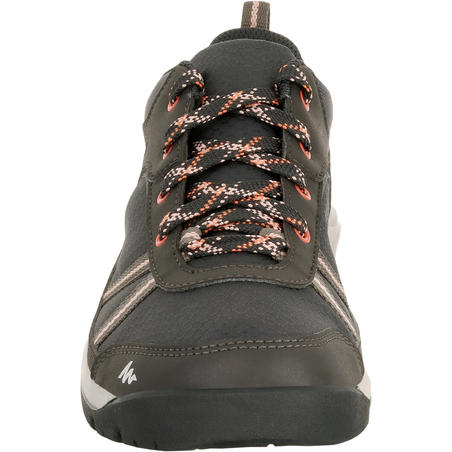 Women's Country Walking Waterproof Boots NH300 - Black