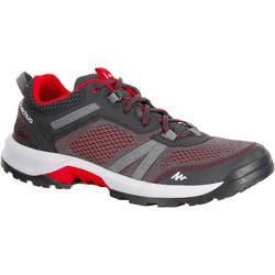 Arpenaz NH500 Fresh 男士登山靴- 黑色/紅色