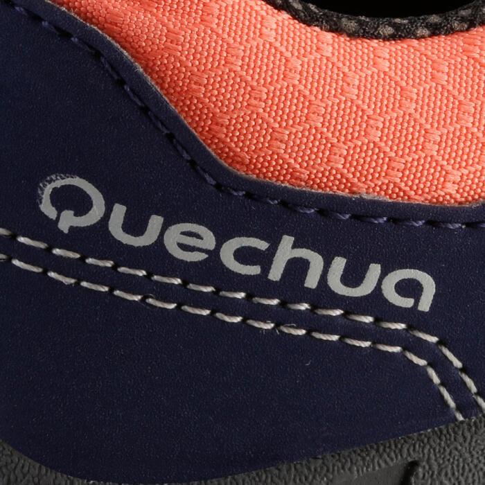 Chaussures de randonnée enfant NH100 imperméables Bleu Corail