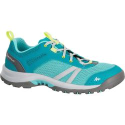 Zapatillas de travesía naturaleza mujer Arpenaz 500 Fresh azul verde