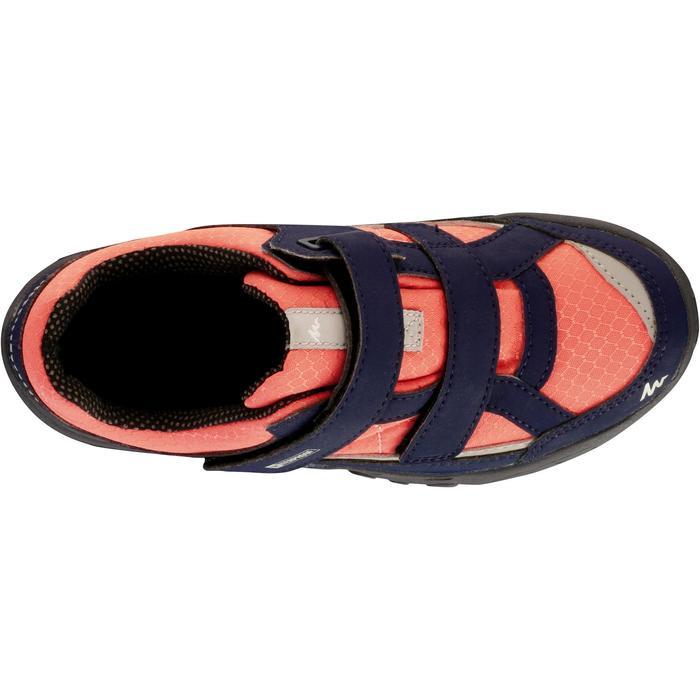 Chaussures de randonnée enfant NH100 imperméables Bleu Corail - 1125458