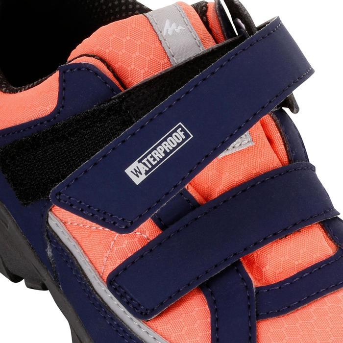 Chaussures de randonnée enfant NH100 imperméables Bleu Corail - 1125481