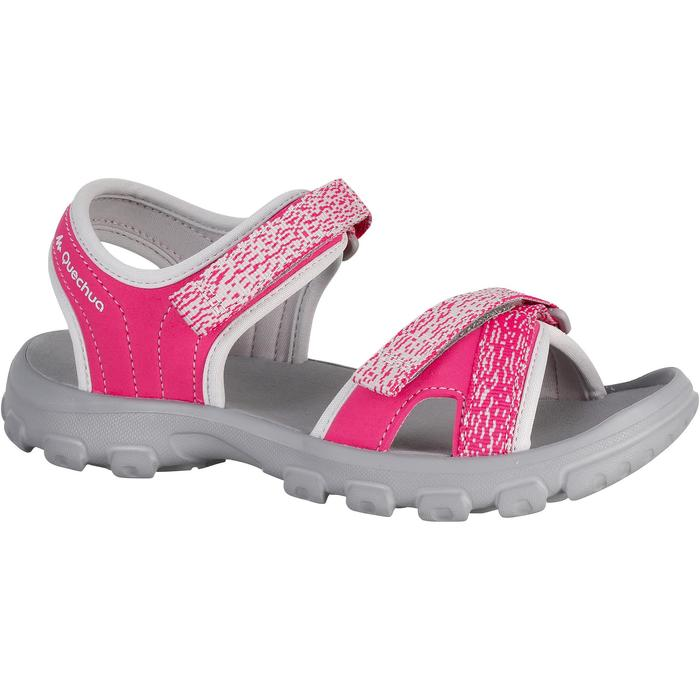 兒童款健行運動涼鞋MH100-粉紅色