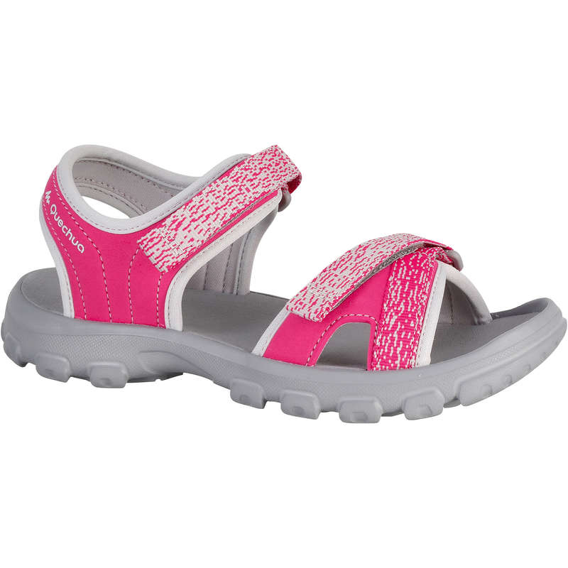 CHILDREN HIKING SANDALS Hiking - MH100 Kids Walking Sandals - Pink  QUECHUA - Outdoor Shoes