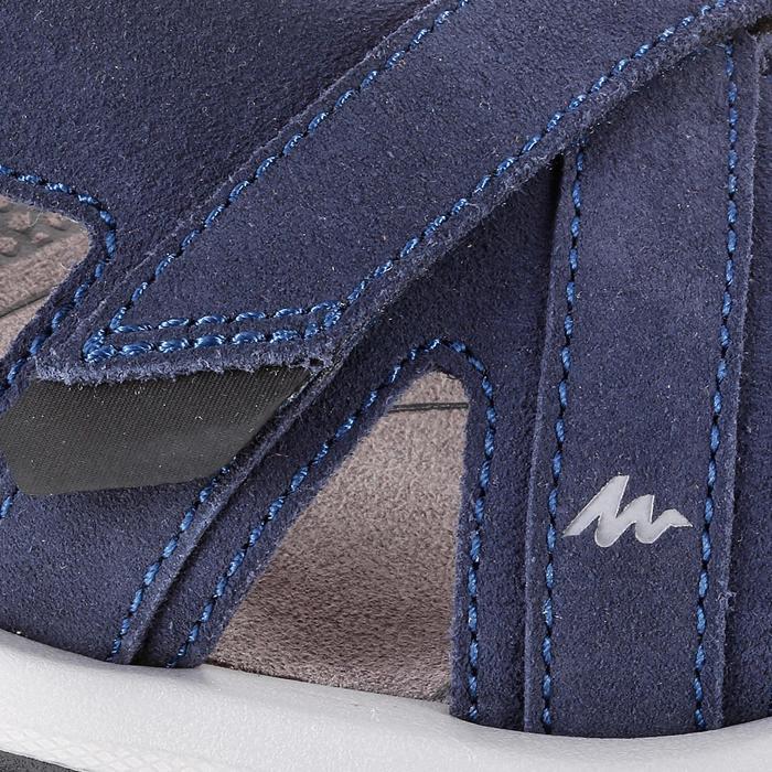LEATHER HIKING SANDALS - NH120 - NAVY BLUE - MEN