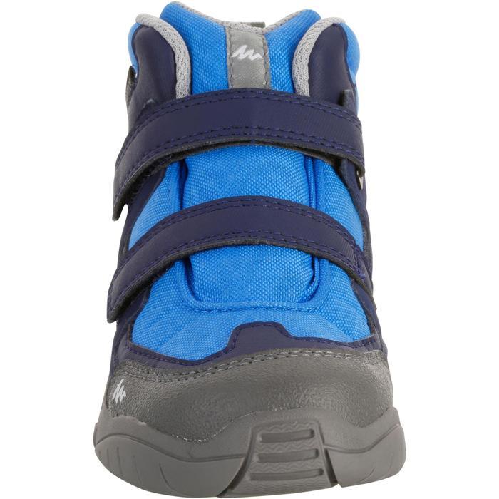 Wanderschuhe NH500 Mid wasserdicht Kinder blau