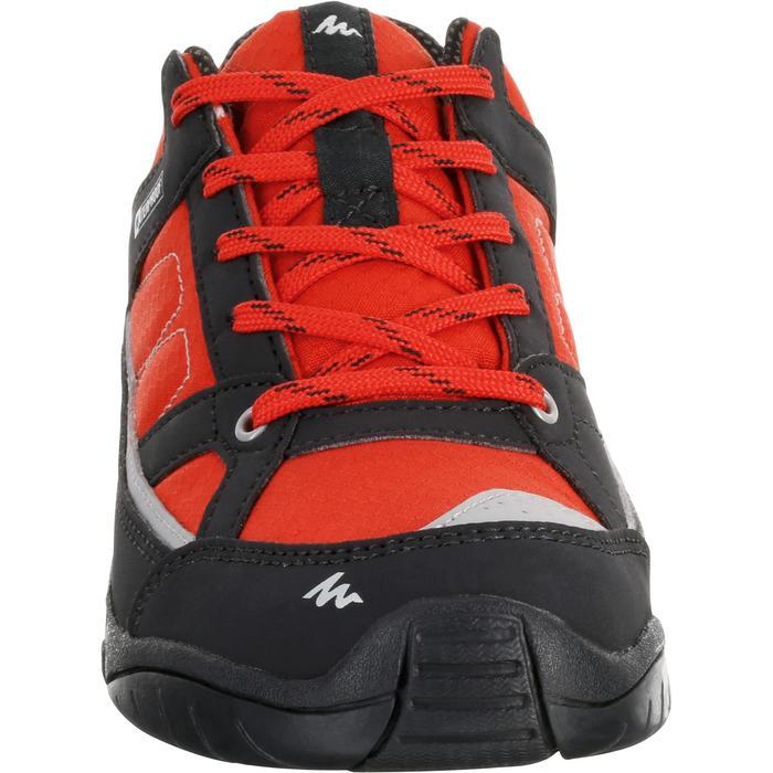 Chaussures de randonnée enfant NH100 imperméables Bleu Corail - 1125517