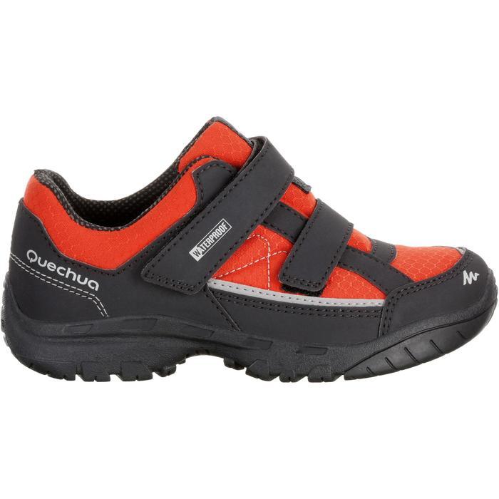 Chaussures de randonnée enfant NH100 imperméables Bleu Corail - 1125530